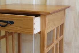 Bed Side Desk Custom Handmade Furniture Bedroom Furniture Side Tables Maine