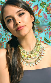 bridesmaid statement necklaces gift ideas bright statement necklace green yellow ombre