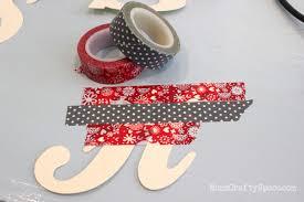 diy washi monogram ornaments happiness is