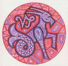 zodiac sign needlepoint canvases from heartland house designs