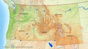 Map Of Montana And Wyoming by Us Physical Map
