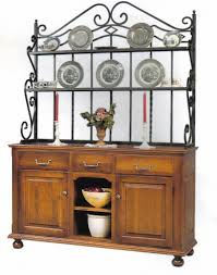 ideas wrought iron bakers rack for inspiring best material of
