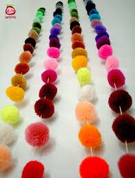 pom pom garland wholesale yarn pom pom garland wedding