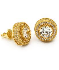 button earrings king gold button earrings zumiez