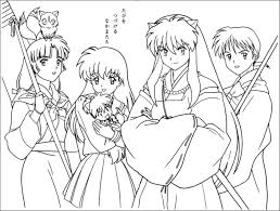 inuyasha coloring pages coloring page
