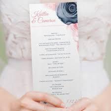 tea length wedding programs wedding program template tea length watercolor bouquet navy pin