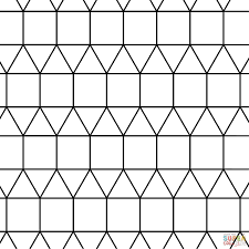 tessellation with triangle and square coloring page free