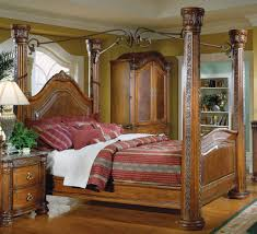 canopy bed frame bamboo all wooden arafen