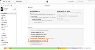apple itunes help desk overdrive how to set the manually manage mus