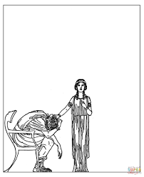 admetus and alcestis coloring page free printable coloring pages