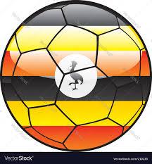 Images Of Uganda Flag Uganda Flag On Soccer Ball Royalty Free Vector Image