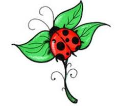 nice one leaf ladybug tattoo design tattooshunter com