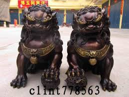 pictures of foo dogs feng shui tips asian mystery guardian temple lions