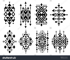 Traditional Design by Vintage Mexican Aztec Tribal Traditional Vector Stock Vector