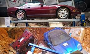 where is the national corvette museum national corvette museum sinkhole before and after photos of