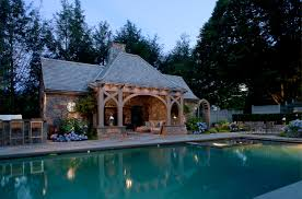 style beautiful pool house designs with outdoor kitchen outdoor