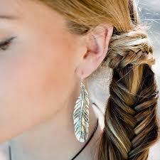silver feather earrings freedom feather earrings by s web jewellery