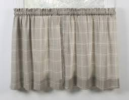 morrison plaid print cotton twill fabric shower curtain window