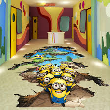 Custom D Photo Kids Floor Wallpaper Kids Room Kindergarten - Flooring for kids room