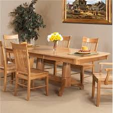 Light Oak Dining Room Chairs Cal Oak Matrix Solid Oak Dining Table W Leaf