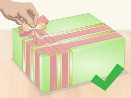 gift wrapping ribbon 3 ways to tie a ribbon around a box wikihow