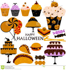 Happy Halloween Scary Food And Sweet Stock Vector Image 79964499