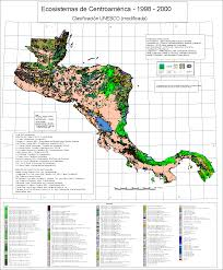Map De Central America by Ecosystems Map Of Central America Download Page