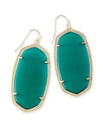 Emerald Danielle Gold Statement Earrings In Emerald Kendra Scott