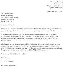 technical cover letter examples cover letter now