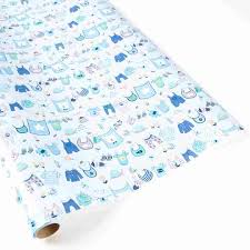 baby boy wrapping paper baby boy clothesline roll wrap