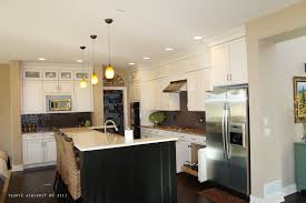 Hanging Upper Kitchen Cabinets by Hanging Pot Rack With Lights Stainless Steel Gas Range Light