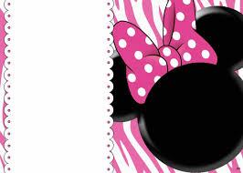 Blank Invitation Cards Templates Free Blank Invites Minnie Mouse Party Pinterest Minnie Mouse
