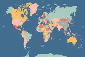 Australian World Map by World Map Mural Wallpaper Uk Wall Murals You U0027ll Love