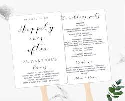 Flat Wedding Programs Custom Color