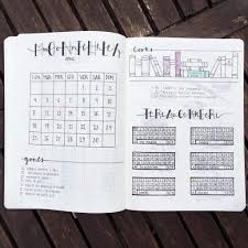 Bullet Journaling by 14 Monthly Spreads U0026 Layout Inspiration For Your Bullet Journal