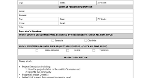 funding request form nonprofit forms nonprofit templates