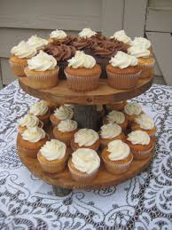 rustic wedding rustic cupcake stand rustic cake stand log