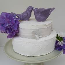 lavender birds wedding cake topper lavender love birds ceramic