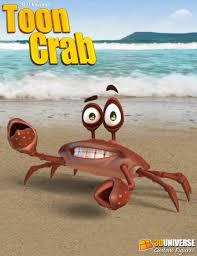 3d universe toon crab 3d models and 3d software by daz 3d