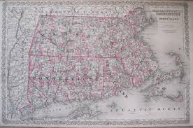 Map Of Ct Towns Antique Maps Of Connecticut