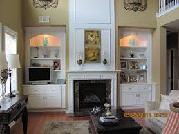 decorations interior attractive pair of built in fireplace