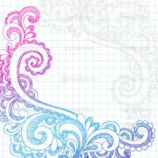 depositphotos paisley sketchy doodle page border vector