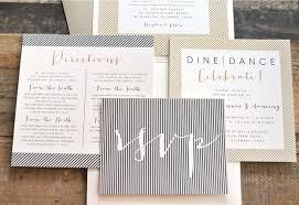 contemporary wedding invitations rectangle cream ivory black