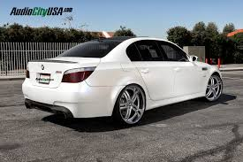 bmw staggered wheels and tires 2008 bmw m5 on 22 xix x15 silver machine chrome lip