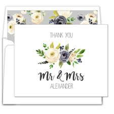 wedding thank you notes wedding thank you cards personalized wedding thank you cards