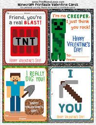 minecraft cards printable minecraft valentines this