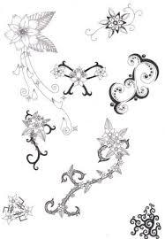 tattoos blend moon flower butterfly designs
