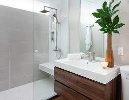 bathroom clerestory windows floating vanity glass partition