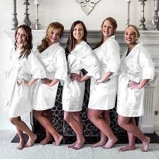 target bridesmaid monogram bridesmaid white satin robe target