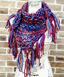 bulky triangle scarf knitting pattern lacy scarf chunky scarf